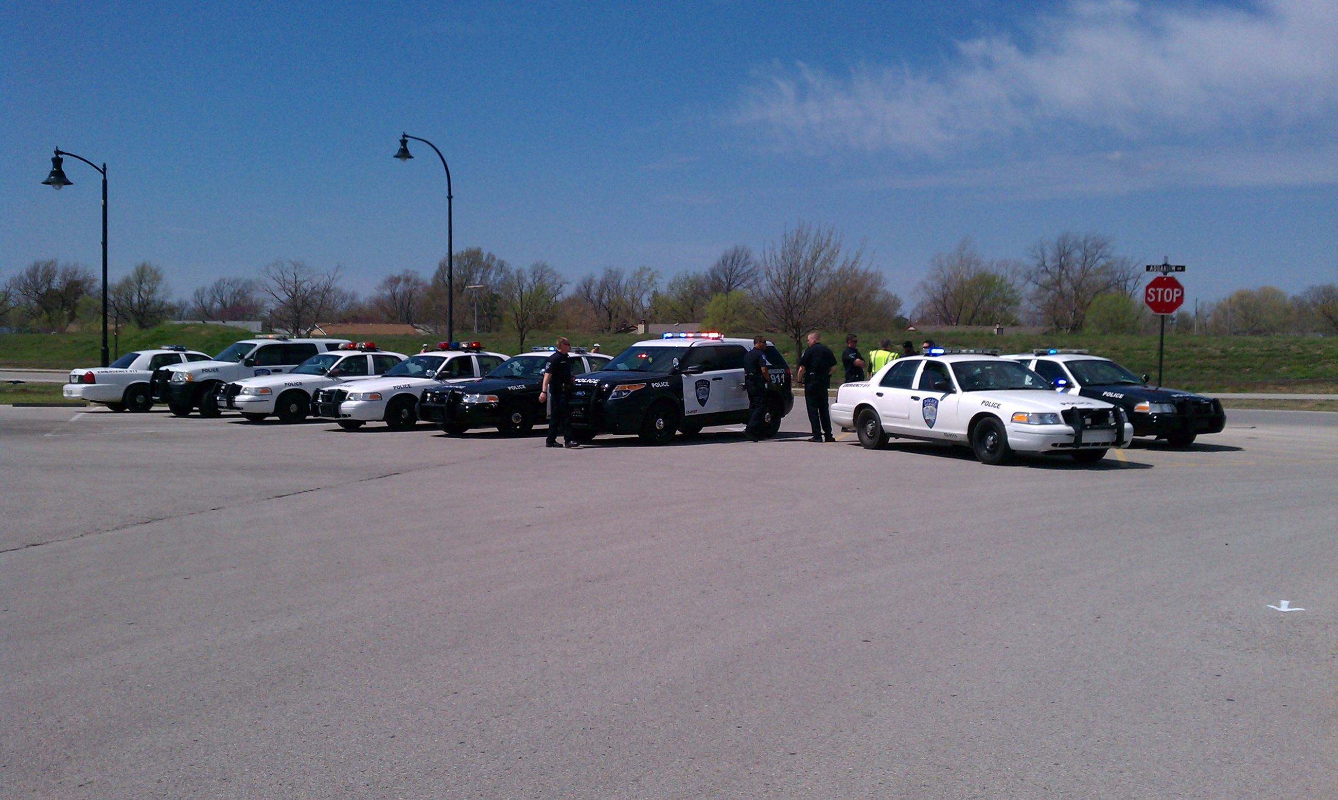Jenks Police Cruisers Parked in a Row